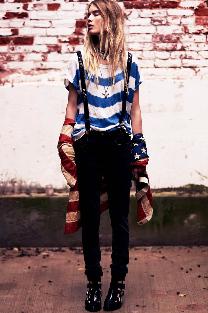 Elsa Sylvan Dons Americana Style For Free People Lookbook