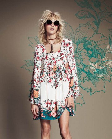 Anja Rubik Fronts Free People July Catalogue