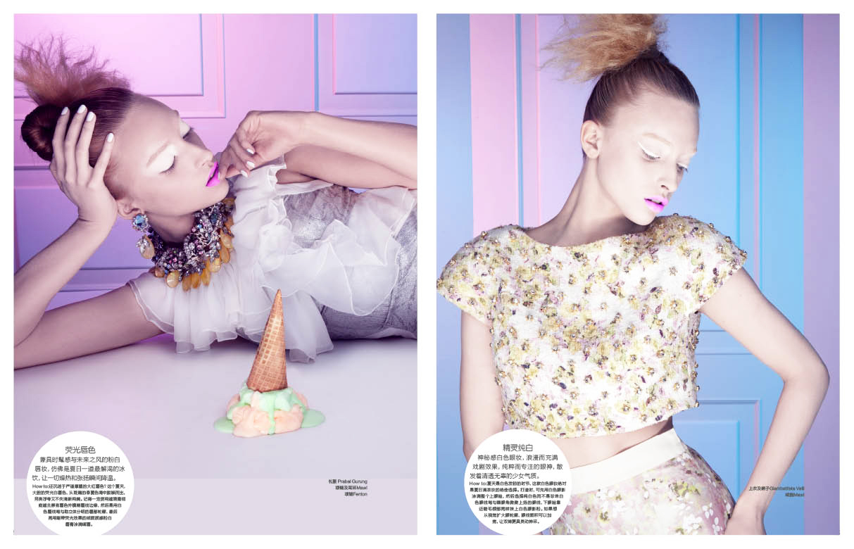 Marie claire IceCream 03 Marcelina Sowa is a Pastel Dream for Marie Claire China by Amber Gray