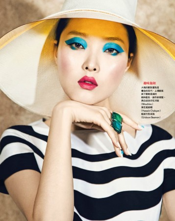 Sung Hee Kim Dons Blue Hues for Vogue Taiwan June 2013 by Yossi Michaeli