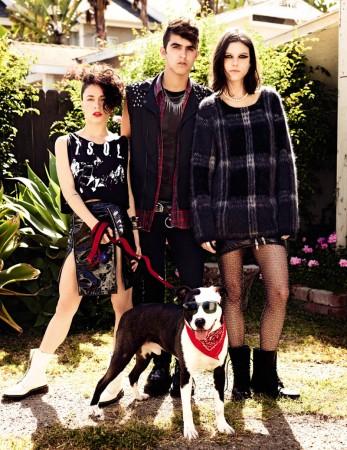 Tati and Alana Model Rock Style for Vogue Russia July 2013 by David Mushegain