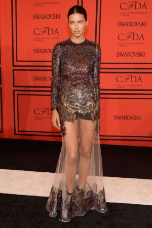 Adriana Lima Wears Givenchy at the 2013 CFDA Fashion Awards