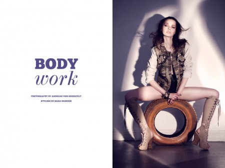 "Becca Breymas by Andreas von Gegerfelt in ""Body Work"" for Fashion Gone Rogue"