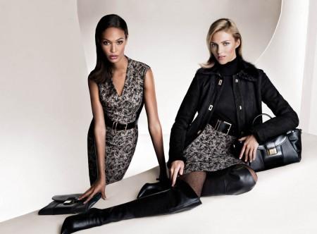 Anja Rubik and Joan Smalls Front Hugo Boss Fall 2013 Campaign