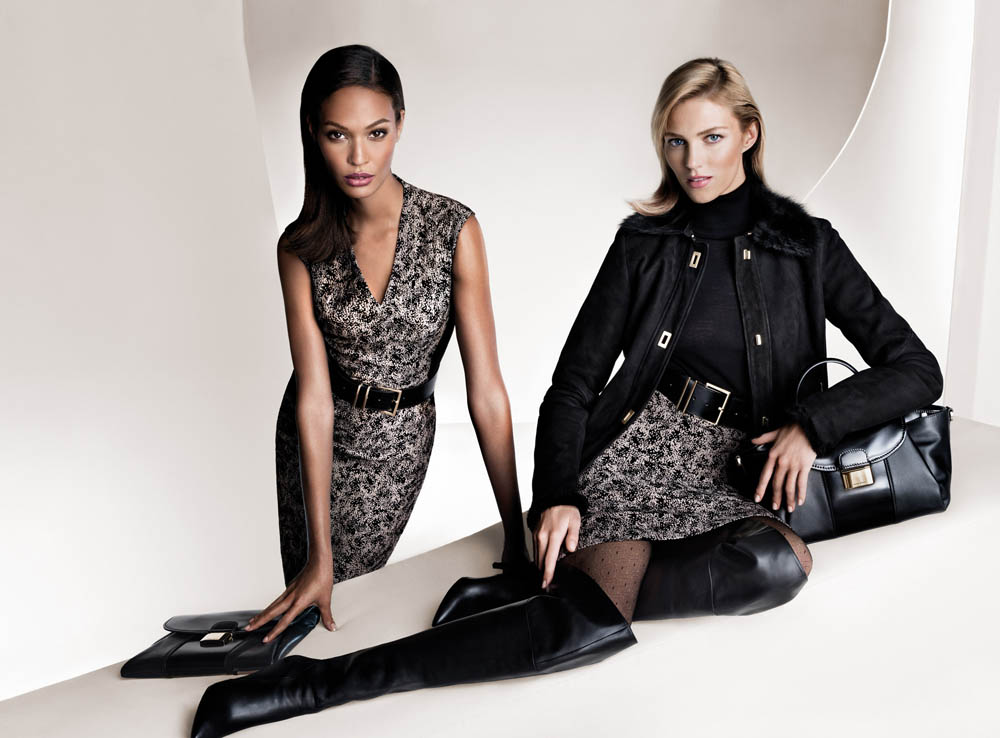 Anja Rubik and Joan Smalls Front Hugo Boss Fall 2013 Campaign