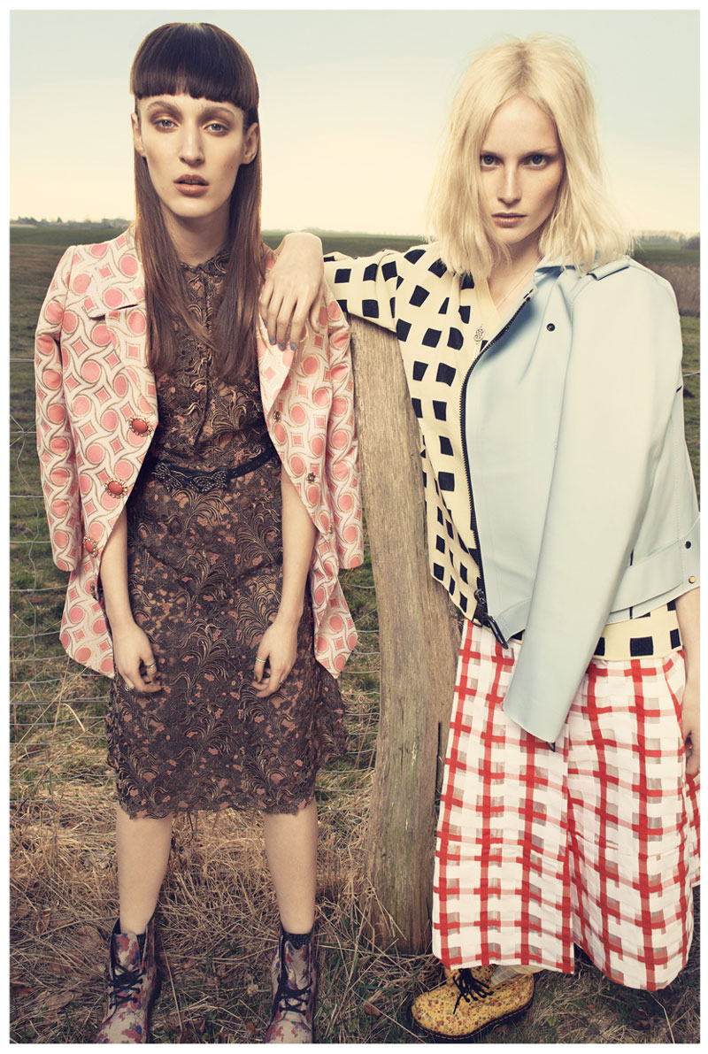 Franzi Mueller & Katrin Thormann Model the New Grunge for Gala by Alexx and Anton