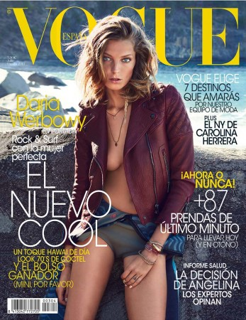 Daria Werbowy Covers Vogue Spain's July 2013 Issue