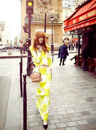 Magdalena Jasek Wears Louis Vuitton Wardrobe for Elle Poland July 2013 by Agata Pospieszynska