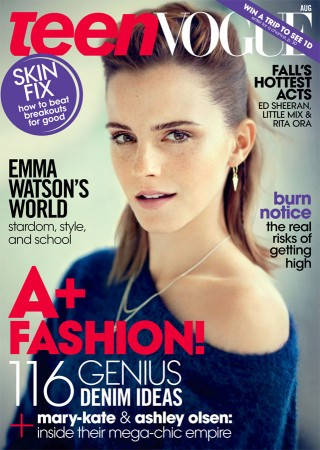 Emma Watson Covers Teen Vogue August 2013