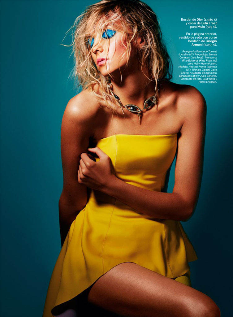 heather marks s moda8 Heather Marks Gets Tropical for David Roemer in S Moda June 2013