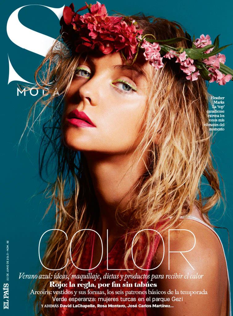 heather marks s moda9 Heather Marks Gets Tropical for David Roemer in S Moda June 2013