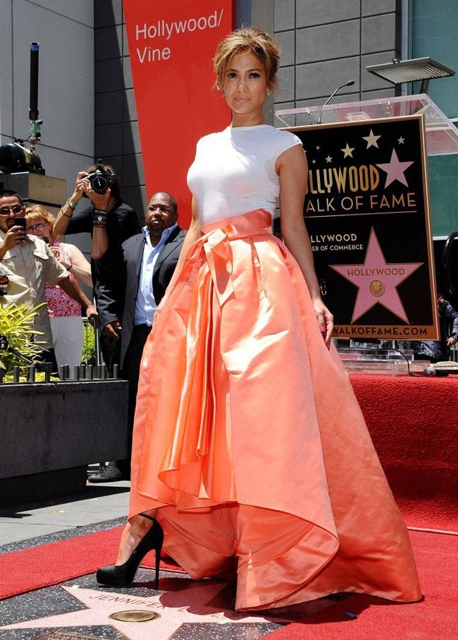 Jennifer Lopez Dons Dior at Hollywood Walk of Fame Star Ceremony