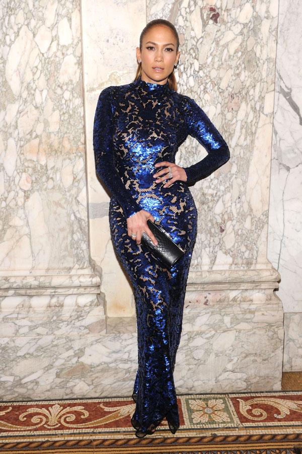 Jennifer Lopez Wears Tom Ford at the 4th Annual amfAR Inspiration Gala