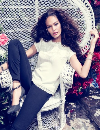 "H&M Taps Joan Smalls for ""Romantic Edge"" Style Book"
