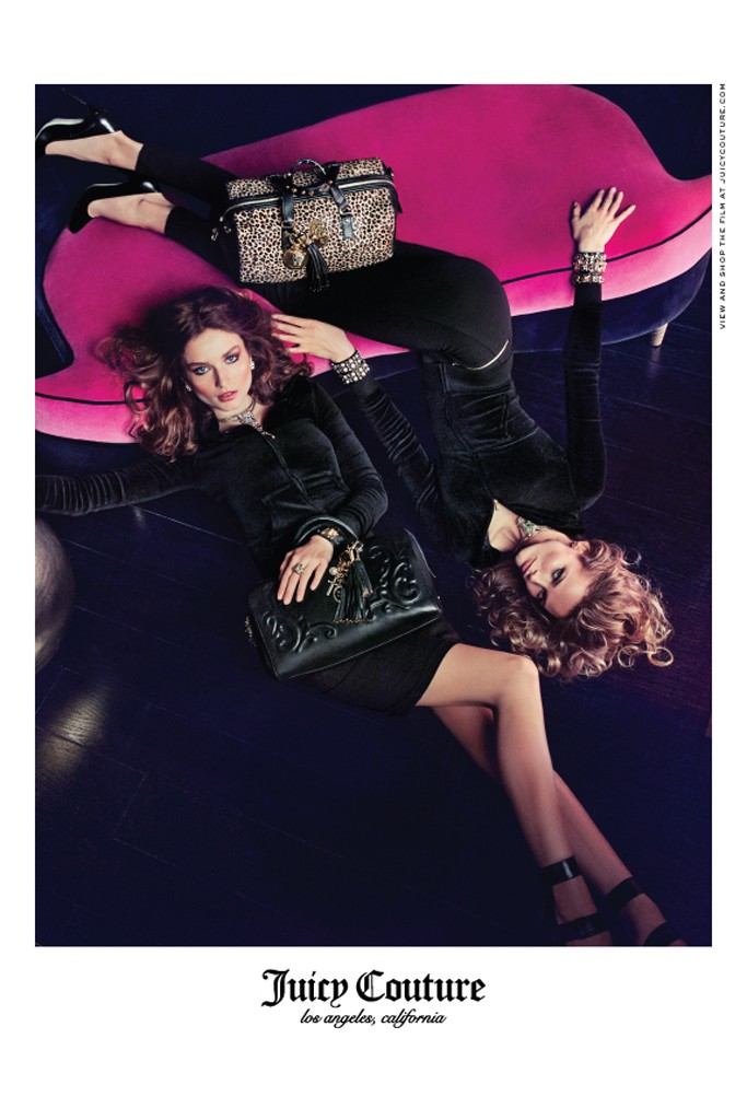 Juicy Couture Taps Edita Vilkeviciute and Andreea Diaconu for Fall 2013 Campaign by Inez & Vinoodh