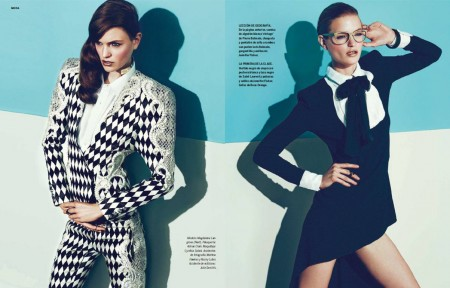 Magdalena Langrova Models Sleek Style for S Moda June 2013