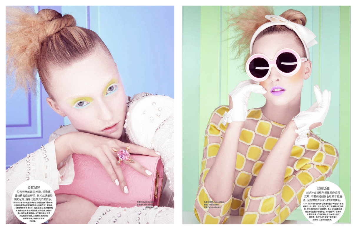 marie claire IceCream02 Marcelina Sowa is a Pastel Dream for Marie Claire China by Amber Gray