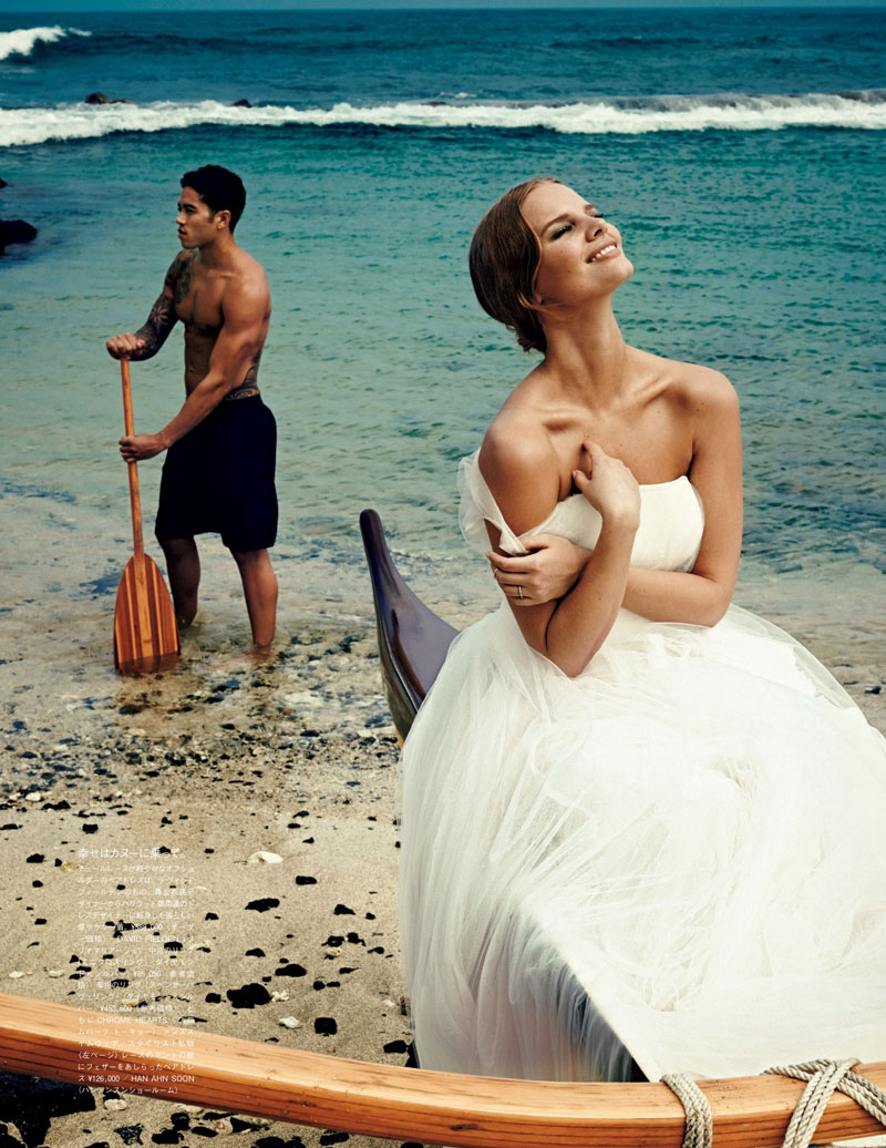 Marloes Horst Plays a Blushing Bride for Vogue Japan Wedding Special
