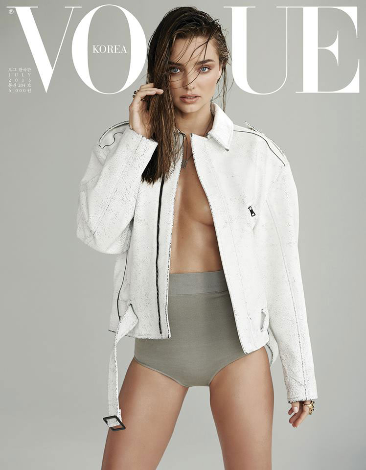 Miranda Kerr on Vogue Korea July 2013 Cover. Makeup by Hung Vanngo.