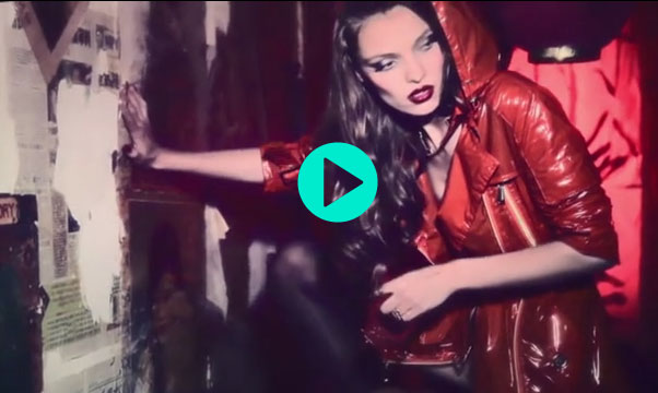 """Red Handcuffs"" Film Starring Carola Remer by Ellen von Unwerth for Vs. Magazine"