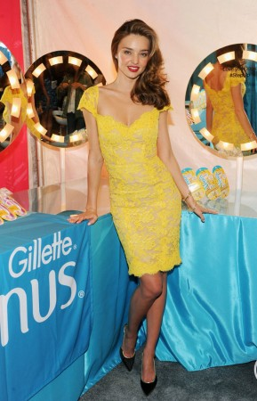 Miranda Kerr is a Knockout in Reem Acra for the Gillette Venus Promo Tour