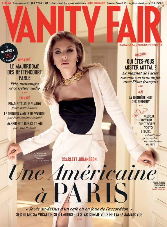 Scarlett Johansson Graces Debut Cover of Vanity Fair France