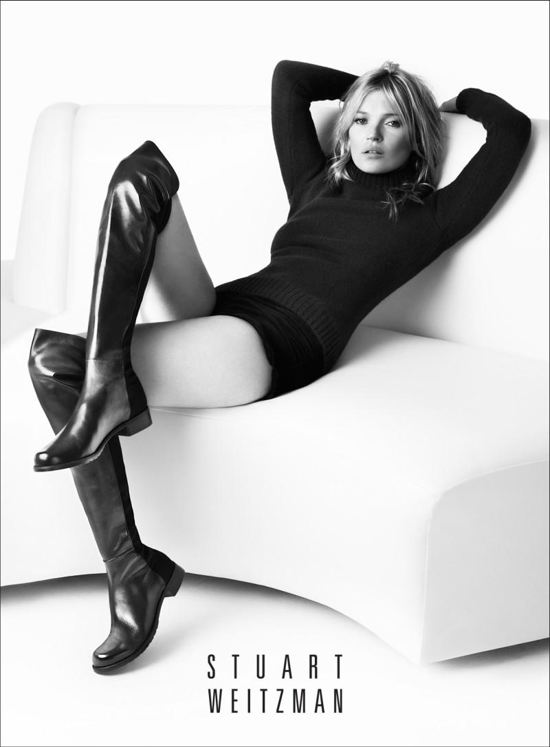 Kate Moss Returns for Stuart Weitzman's Fall 2013 Campaign