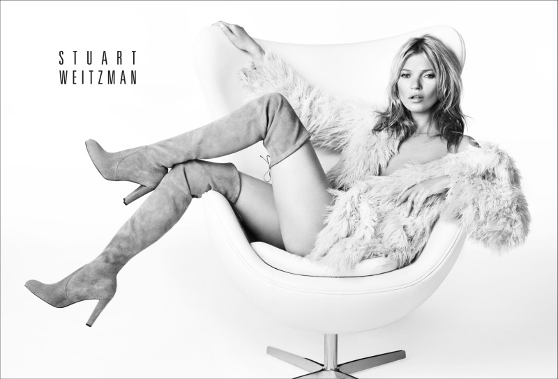 stuart weitzman fall2 Kate Moss Returns for Stuart Weitzmans Fall 2013 Campaign