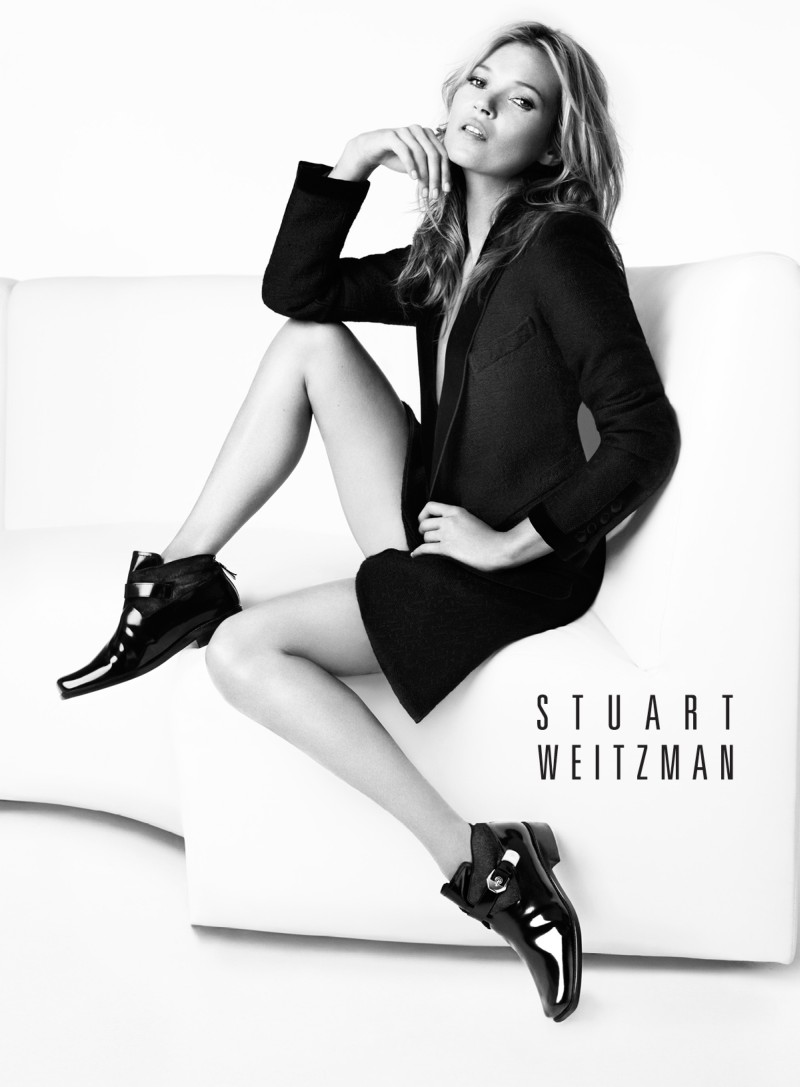stuart weitzman fall4 Kate Moss Returns for Stuart Weitzmans Fall 2013 Campaign