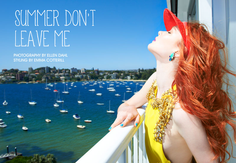 """Alice and Sarah by Ellen Dahl in """"Summer Don't Leave Me"""" for Fashion Gone Rogue"""