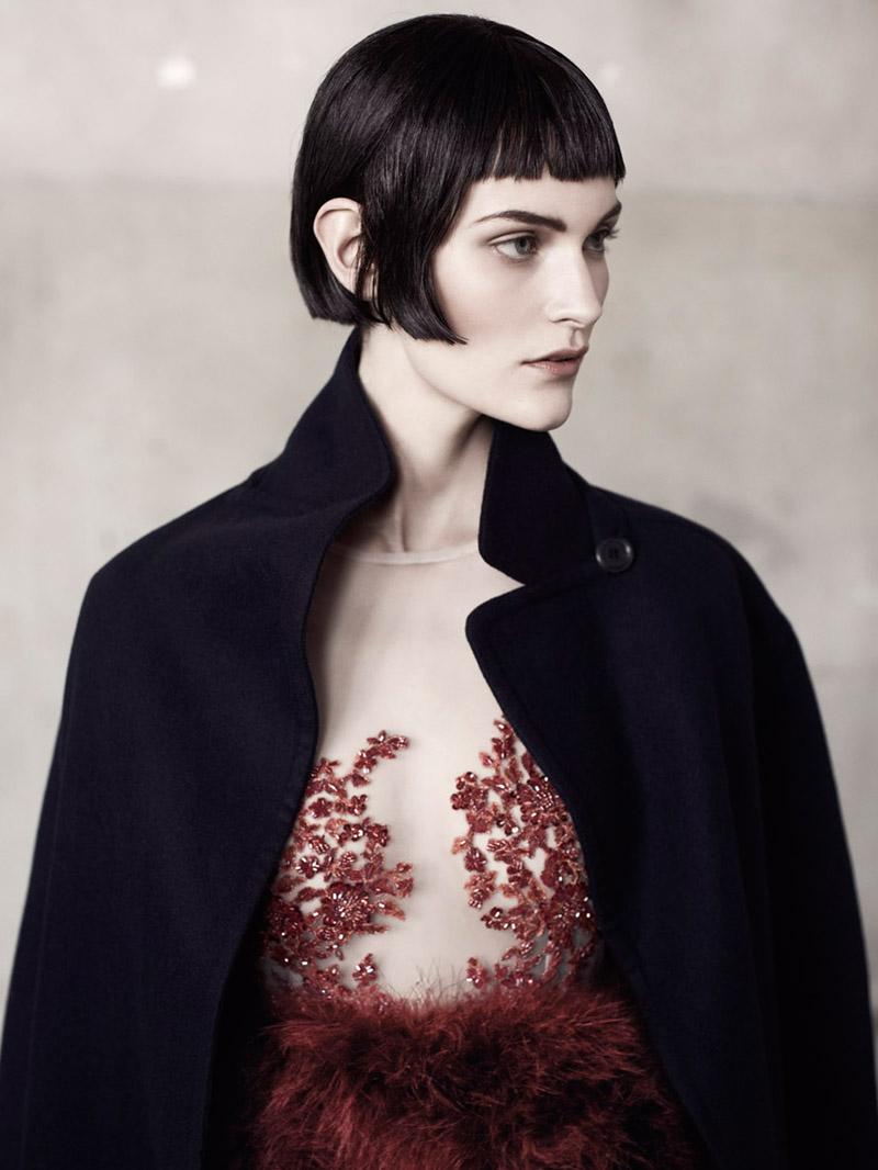 Fia Ljungström Models 30s Style For Elle Sweden By Andreas