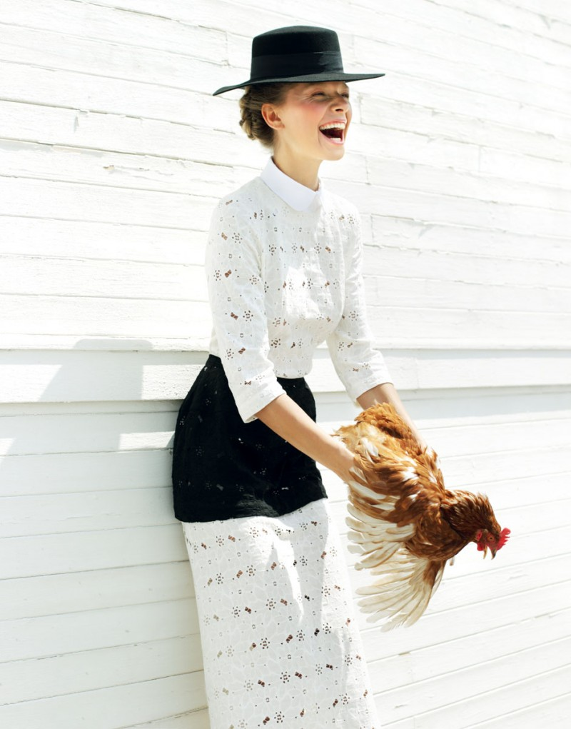 Amish5 800x1021 Yuliana Dementyeva Lives the Amish Life for Elle Ukraine August 2013 by Nikolay Biryukov