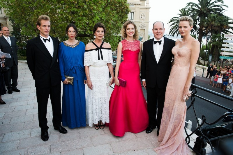 Andrea Casiraghi Tatiana Santo Domingo Princely Family of Monaco 800x533 Natalia Vodianova, Karl Lagerfeld and More Attend the 4th Annual Love Ball