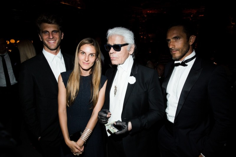 Gaia Repossi Karl Lagerfelg 800x533 Natalia Vodianova, Karl Lagerfeld and More Attend the 4th Annual Love Ball