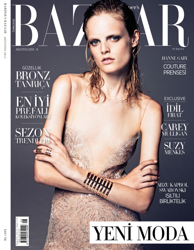 Harpers Bazaar August 2013 Cover Hanne Gaby Odiele Wears Couture for Harpers Bazaar Turkey August 2013 by Gianluca Fontana