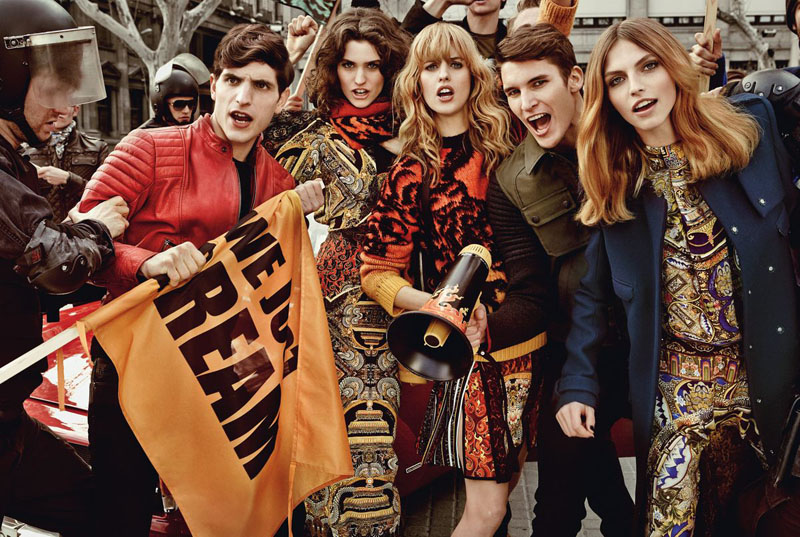 Just Cavalli ADV Campaign AI 2013 14 3 Just Cavalli Fall 2013 Campaign Taps Karlina Caune, Julia Frauche and Manon Leloup