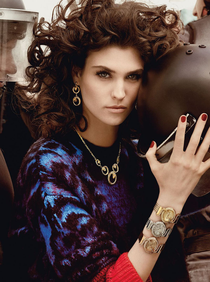 Just Cavalli ADV Campaign AI 2013 14 8 Just Cavalli Fall 2013 Campaign Taps Karlina Caune, Julia Frauche and Manon Leloup