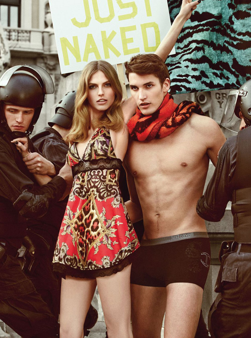 Just Cavalli ADV Campaign AI 2013 14 9 Just Cavalli Fall 2013 Campaign Taps Karlina Caune, Julia Frauche and Manon Leloup