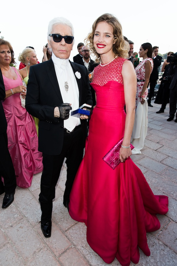Karl Lagerfeld Natalia Vodianova Natalia Vodianova, Karl Lagerfeld and More Attend the 4th Annual Love Ball