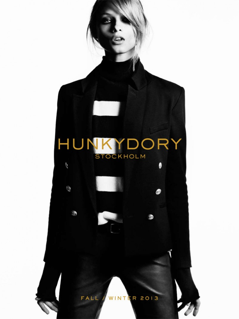 MO Hunky main 800x1066 Hunkydory Enlists Anna Selezneva for Fall 2013 Campaign by Marcus Ohlsson