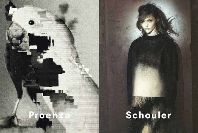 Proenza Schouler Fall Winter 2013 2014 ad 1 800x539 Sasha Pivovarova Poses for Proenza Schouler Fall 2013 Campaign