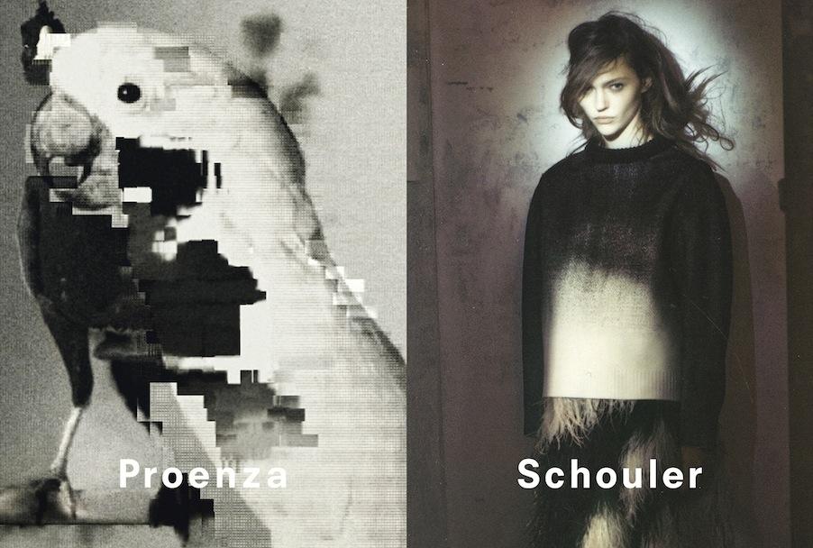Sasha Pivovarova Poses for Proenza Schouler Fall 2013 Campaign