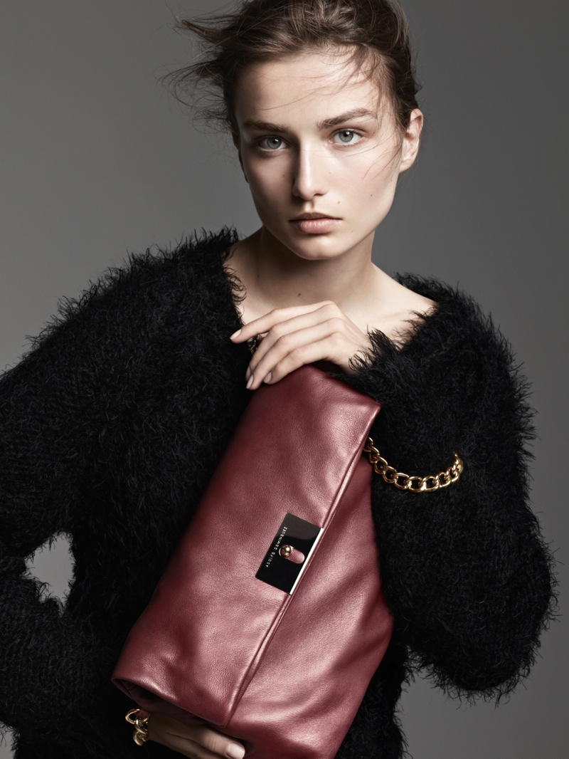 adolfo campaign1 First Look: Andreea Diaconu for Adolfo Dominguezs Fall 2013 Campaign