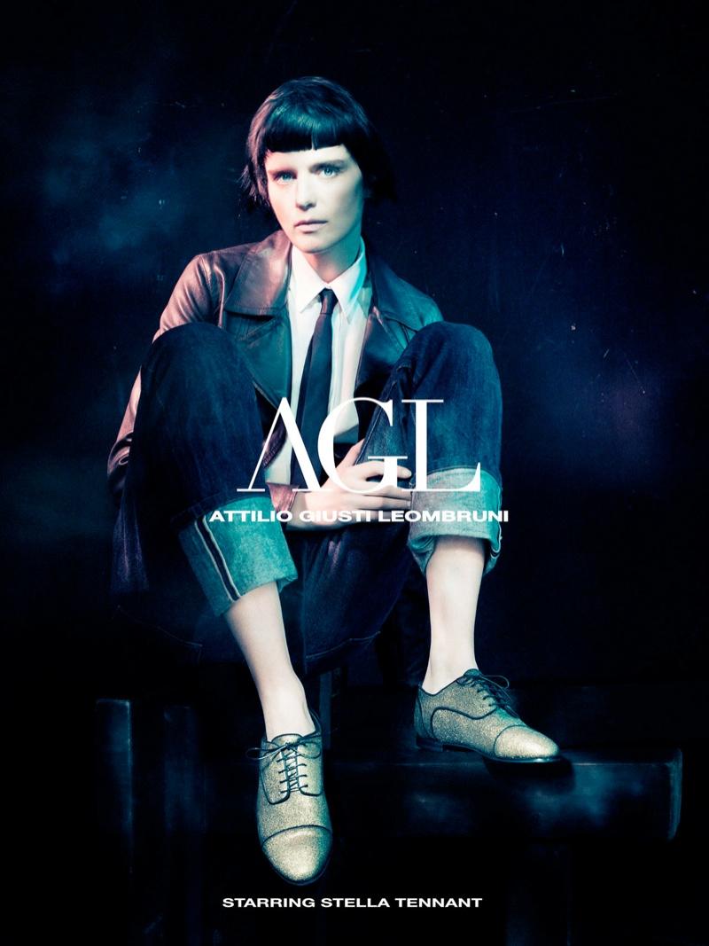 agl fall ads1 Stella Tennant Fronts Attilio Giusti Leombruni Fall 2013 Campaign by Paolo Roversi