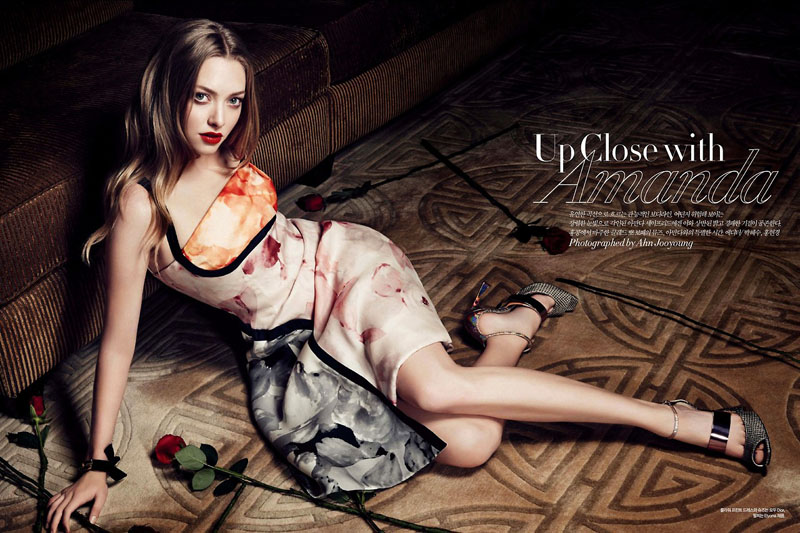 amanda seyfried shoot1 Amanda Seyfried Smolders in Harpers Bazaar Korea July 2013