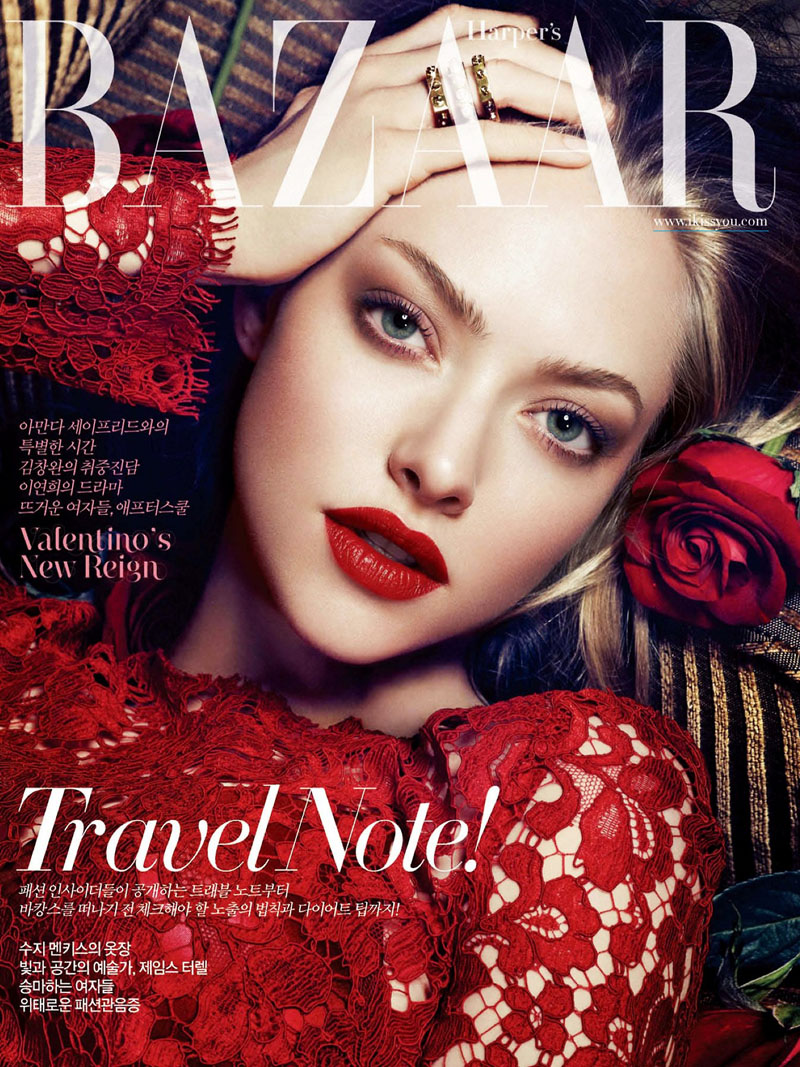 amanda seyfried shoot2 Amanda Seyfried Smolders in Harpers Bazaar Korea July 2013