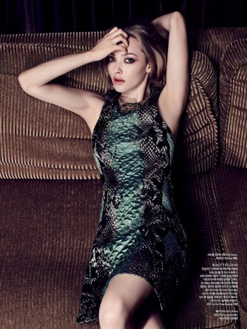 Amanda Seyfried Smolders in Harper's Bazaar Korea July 2013