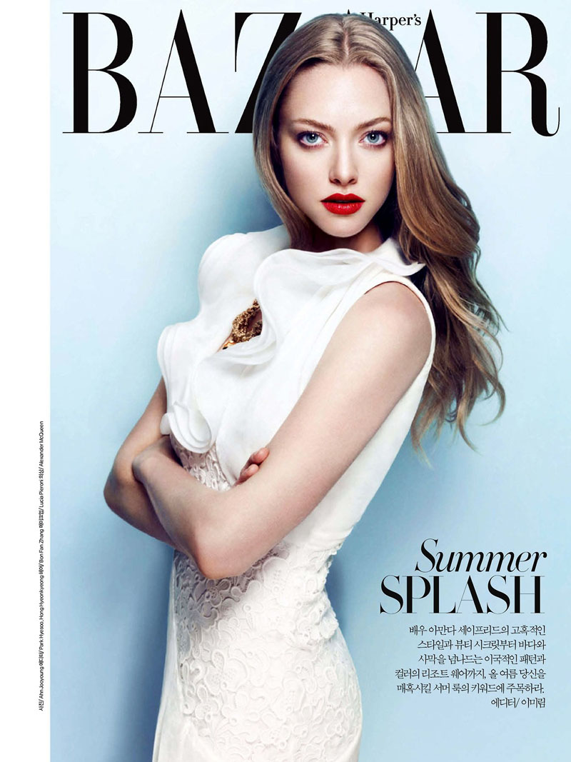 Fashion Magazines Nyc: Amanda Seyfried Smolders In Harper's Bazaar Korea July