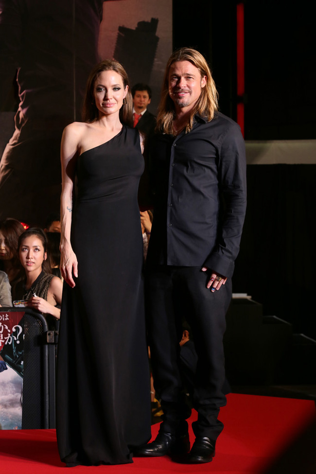 angelina saint laurent paris Angelina Jolie Wears Saint Laurent to the World War Z Tokyo Premiere