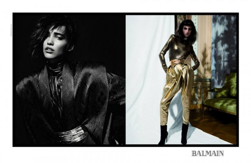 balmain fall ads1 800x518 Balmain Taps Eclectic Cast for Fall 2013 Campaign by Inez & Vinoodh